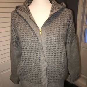 Hooded zip up sweater from GAP